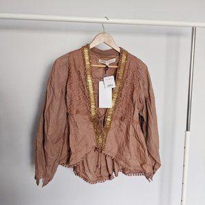Free People Jasmine Beaded Embroidered Jacket